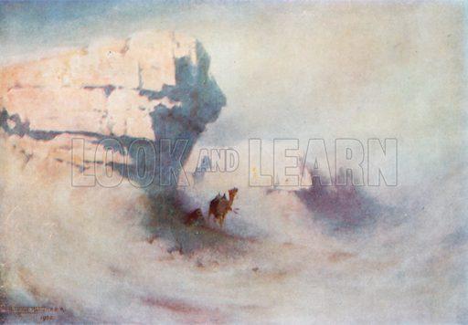 A Sandstorm. Illustration for Egypt (A&C Black, 1904).