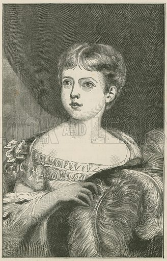 Her Majesty at the age of ten. Illustration for England under Victoria (Walter Scott, c 1895).