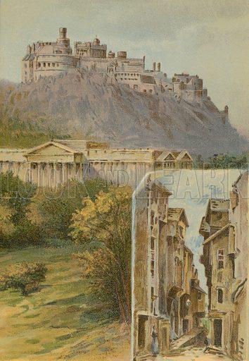 Castle, Royal Institution, Advocates' Close, Edinburgh. Illustration for England under Victoria (Walter Scott, c 1895).