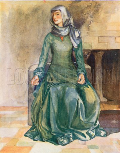 A Woman of the Time of William II 1087–1100. Illustration for English Costume (A&C Black, 1908).