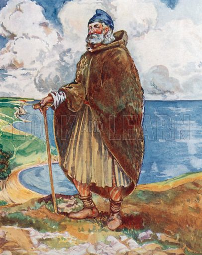 A Man of the Time of Stephen 1135–1154. Illustration for English Costume (A&C Black, 1908).