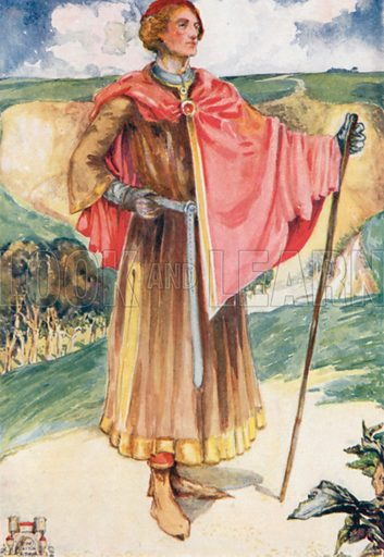 A Man of the Time of Henry II 1154–1189. Illustration for English Costume (A&C Black, 1908).