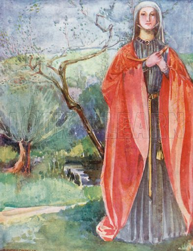 A Woman of the Time of John 1199–1272. Illustration for English Costume (A&C Black, 1908).
