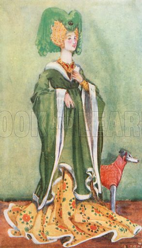 A Woman of the Time of Henry VI 1422–1461. Illustration for English Costume (A&C Black, 1908).