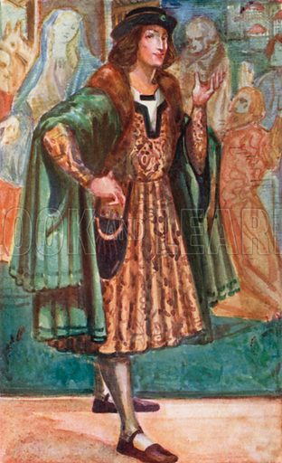 A Man of the Time of Richard III 1483–1485. Illustration for English Costume (A&C Black, 1908).