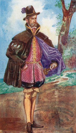A Man of the Time of Mary 1553–1558. Illustration for English Costume (A&C Black, 1908).