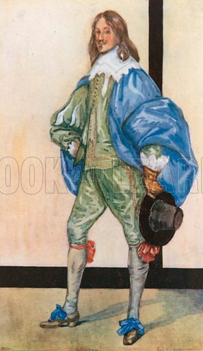 A Man of the Time of Charles I 1625–1649. Illustration for English Costume (A&C Black, 1908).