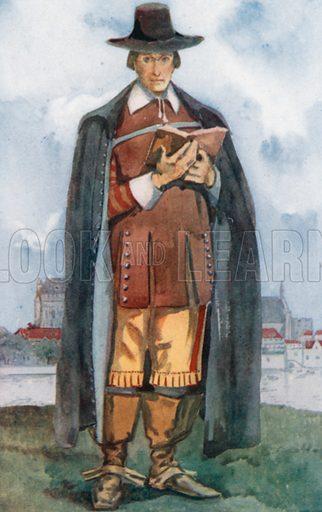 A Cromwellian Man 1649–1660. Illustration for English Costume (A&C Black, 1908).
