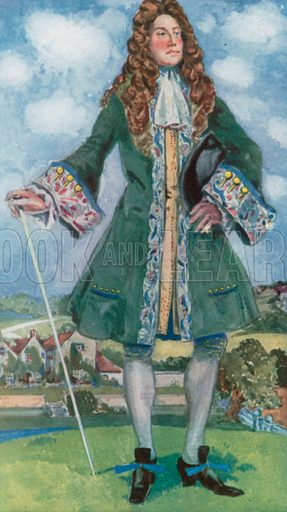 A Man of the Time of William and Mary 1689–1702. Illustration for English Costume (A&C Black, 1908).