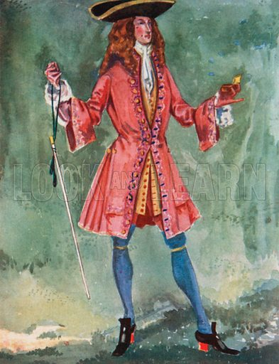A Man of the Time of Queen Anne 1702–1714. Illustration for English Costume (A&C Black, 1908).
