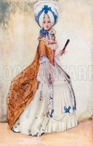 A Woman of the Time of George III 1760–1820. Illustration for English Costume (A&C Black, 1908).
