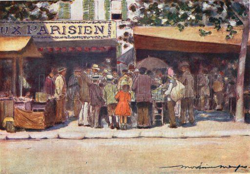Curiosity. Illustration for Paris (A&C Black, 1909).