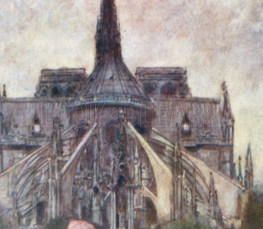 Notre Dame. Illustration for Paris (A&C Black, 1909).