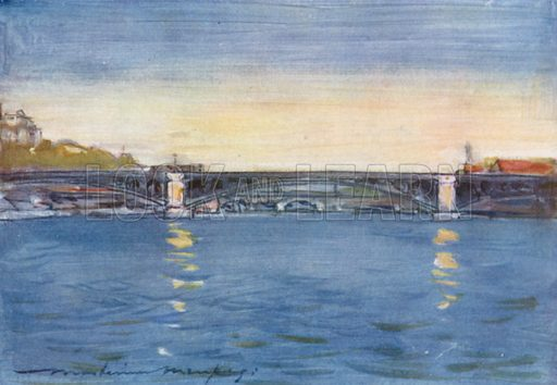 Afternoon on the Seine. Illustration for Paris (A&C Black, 1909).