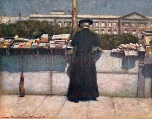 Bookstall on the Seine. Illustration for Paris (A&C Black, 1909).