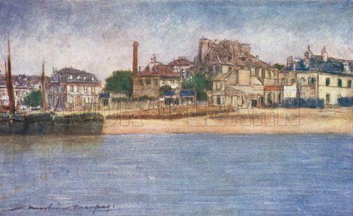 The Seine near Charenton. Illustration for Paris (A&C Black, 1909).