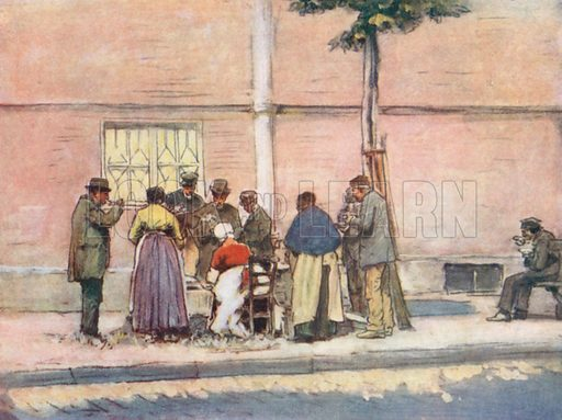 Dejeuner al Fresco. Illustration for Paris (A&C Black, 1909).