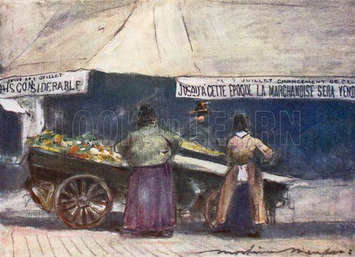 Rue de la Fayette. Illustration for Paris (A&C Black, 1909).