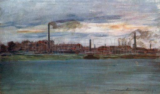 Near Charenton. Illustration for Paris (A&C Black, 1909).