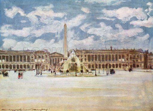 Place De la Concorde. Illustration for Paris (A&C Black, 1909).
