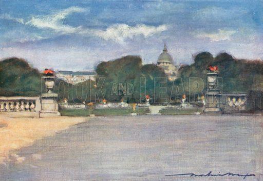 The Tuileries Gardens. Illustration for Paris (A&C Black, 1909).