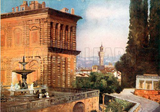 Boboli Gardens, Florence. Illustration for Royal Palaces & Gardens (A&C Black, 1916).