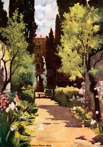 The Villa D'Este, Rome. Illustration for Royal Palaces & Gardens (A&C Black, 1916).