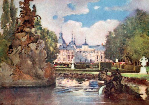 La Granja. Illustration for Royal Palaces & Gardens (A&C Black, 1916).