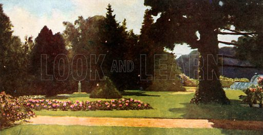 The Palace Gardens, Het Loo. Illustration for Royal Palaces & Gardens (A&C Black, 1916).
