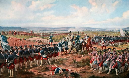 The Battle of Fontenoy. The French and the Allies Confronting each other. Illustration for Scotland for Ever (Hodder and Stoughton, c 1900).