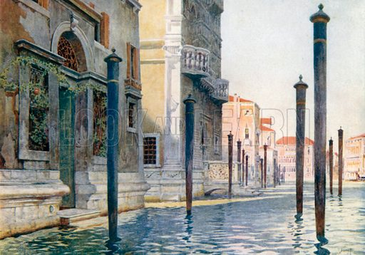 View on Grand Canal. Illustration for Venice by Beryl de Selincourt (Chatto & Windus, 1907).