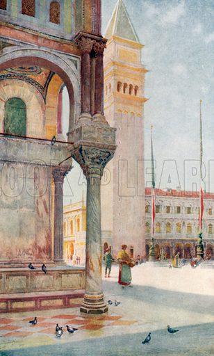 The Campanile. Illustration for Venice by Beryl de Selincourt (Chatto & Windus, 1907).