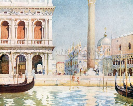 The Library, Piazzetta. Illustration for Venice by Beryl de Selincourt (Chatto & Windus, 1907).