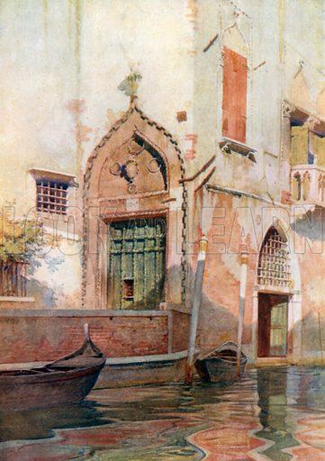 Palazzo Sanudo. Illustration for Venice by Beryl de Selincourt (Chatto & Windus, 1907).