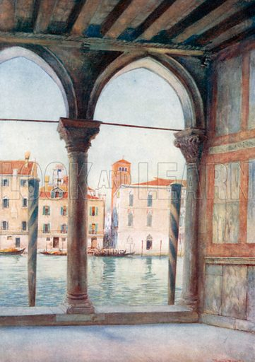 View from Ca D'Oro. Illustration for Venice by Beryl de Selincourt (Chatto & Windus, 1907).