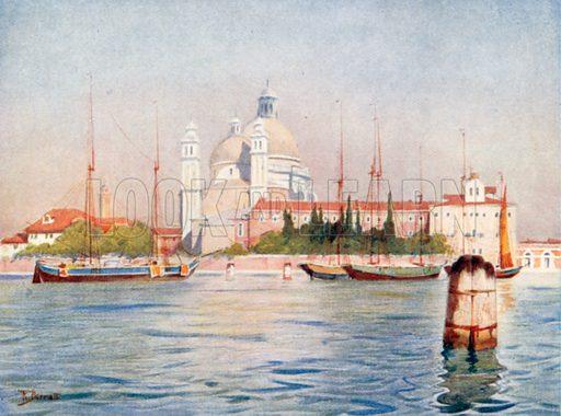 Santa Maria Della Salute. Illustration for Venice by Beryl de Selincourt (Chatto & Windus, 1907).