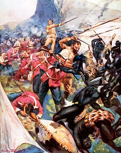 picture, C. Dudley Tennant, artist, illustrator, Zulu War
