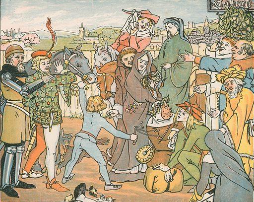 Mine Host assembling the Canterbury pilgrims