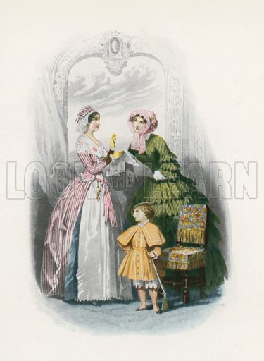 1852. Illustration for Dame Fashion (Sampson Low, 1913).