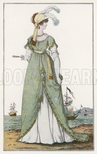 1803. Illustration for Dame Fashion (Sampson Low, 1913).