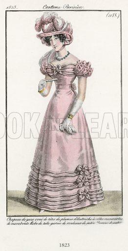 1823. Illustration for Dame Fashion (Sampson Low, 1913).