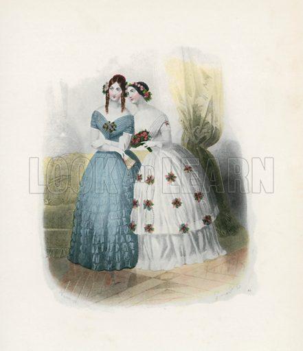 1844. Illustration for Dame Fashion (Sampson Low, 1913).