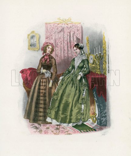 1846. Illustration for Dame Fashion (Sampson Low, 1913).