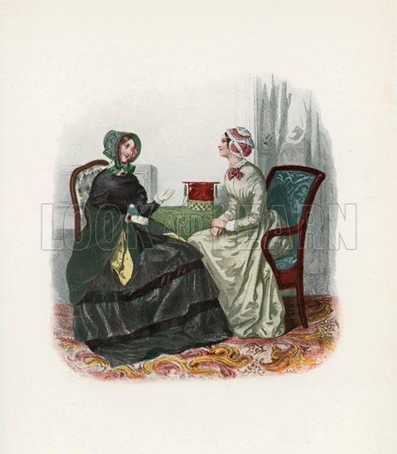 1847. Illustration for Dame Fashion (Sampson Low, 1913).