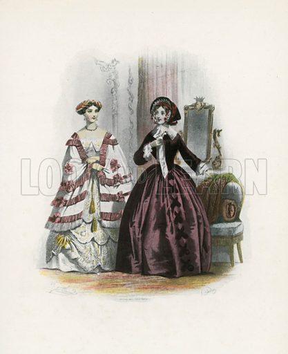 1853. Illustration for Dame Fashion (Sampson Low, 1913).