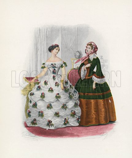1854. Illustration for Dame Fashion (Sampson Low, 1913).
