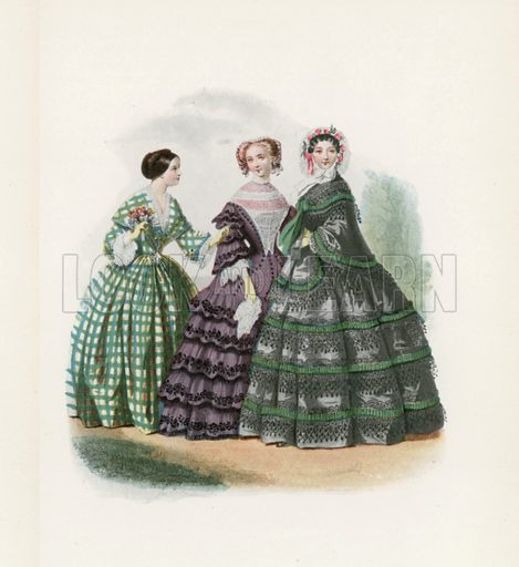1858. Illustration for Dame Fashion (Sampson Low, 1913).