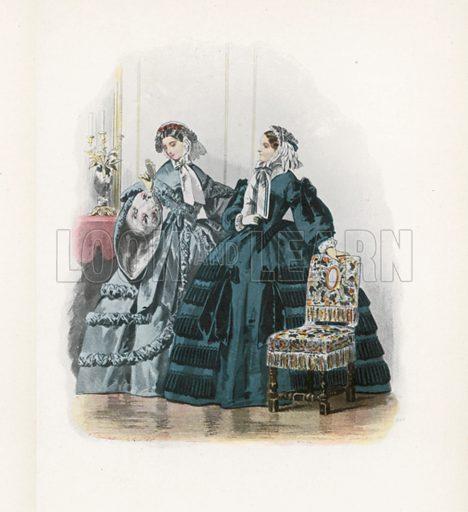 1859. Illustration for Dame Fashion (Sampson Low, 1913).
