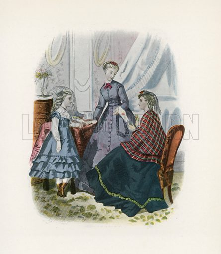 1868. Illustration for Dame Fashion (Sampson Low, 1913).