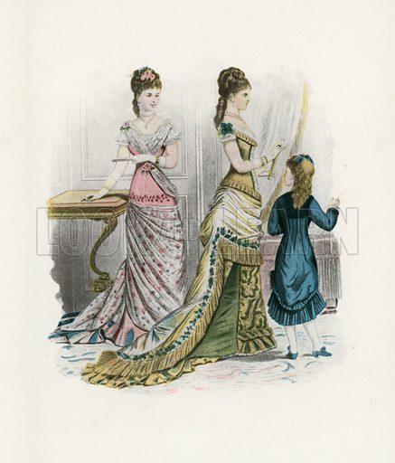 1878. Illustration for Dame Fashion (Sampson Low, 1913).